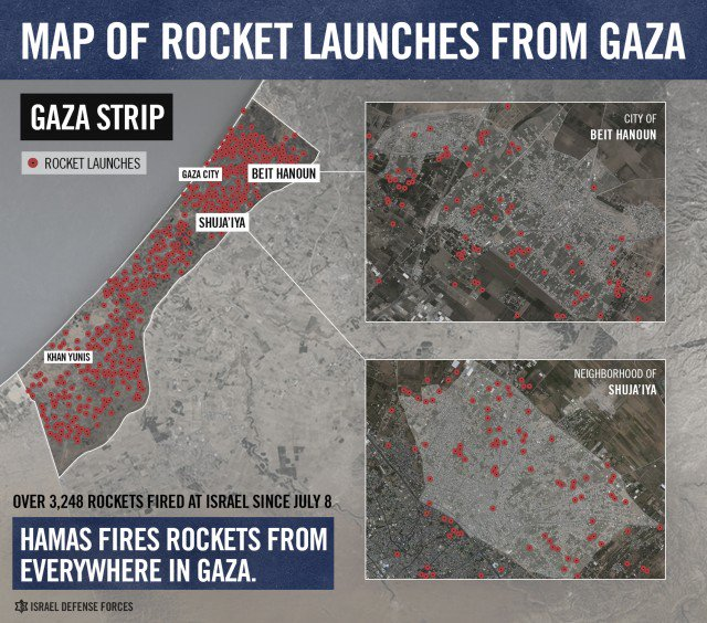 Hamas fires rockets from everywhere in Gaza